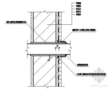 外墙穿墙管道(套管式)构造