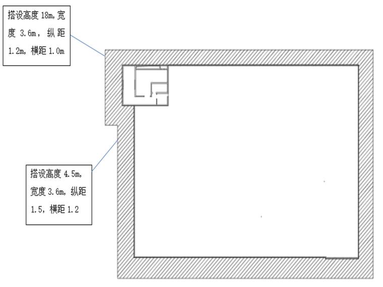 敦煌国际酒店幕墙工程5#楼脚手架方案