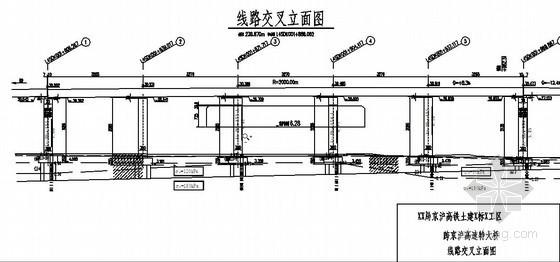 公路预应力混凝土连续梁桥施工CAD图