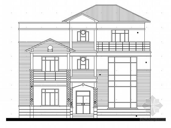 某三层私人独栋度假别墅建筑方案扩初图 (含效果图)