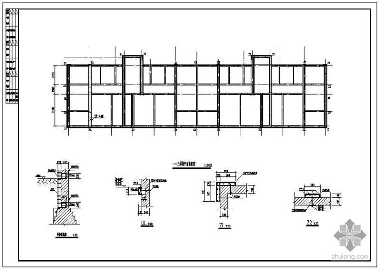 某砖混结构柱加固设计说明及节点构造详图