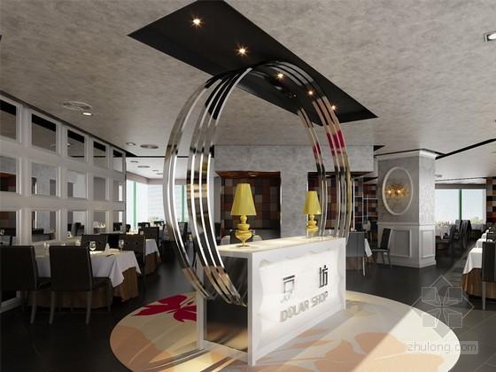 [上海]连锁火锅店餐厅3D模型下载