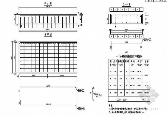 预应力混凝土空心板桥台帽钢筋构造节点详图设计