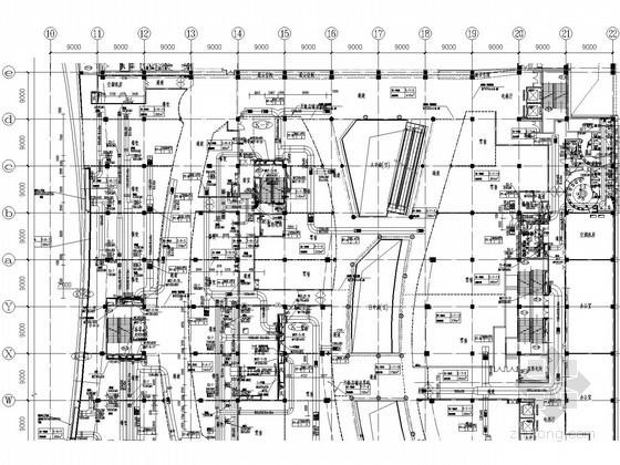 [苏州]大型购物中心暖通空调全套施工图纸150张(空调自控冷热源机房大样图丰富)