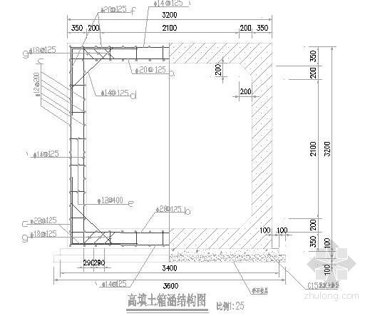 排水箱涵及启闭房技术施工图