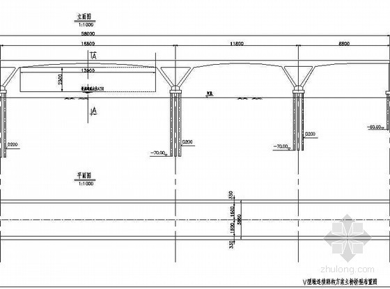 V型墩连续刚构资料下载-V型墩连续刚构主桥桥型布置节点详图设计