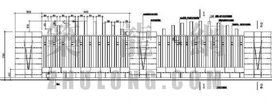 围墙栏杆施工图
