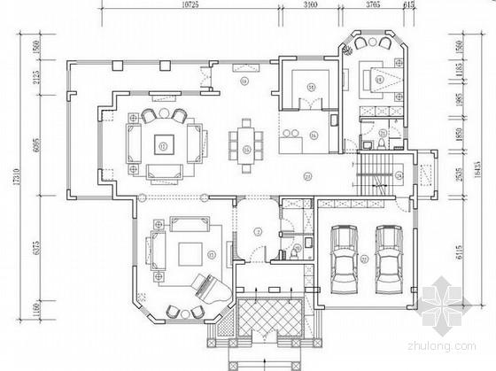 [北京]新古典庄园双层别墅室内装修设计方案