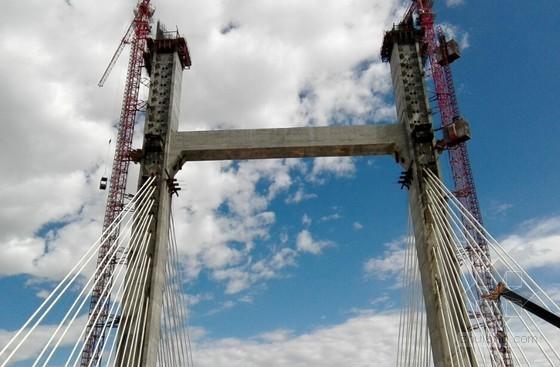 全漂浮体系预应力独塔双索面斜拉桥施工工序照片1033张