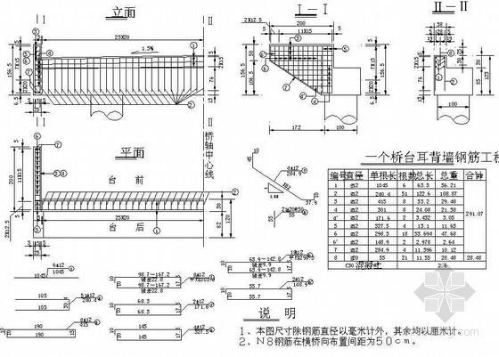 10米简支空心板桥下部耳背墙钢筋节点详图设计