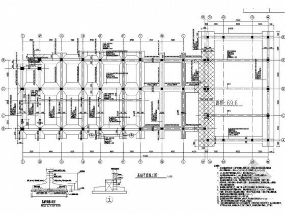 [上海]两层框架结构经济适用房配套公建结构施工图