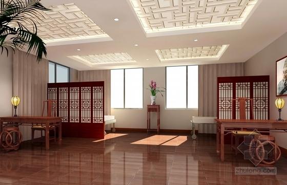 [杭州]社区综合性医疗卫生服务中心室内装修设计施工图(含效果)名医馆效果图