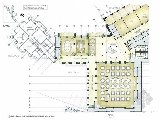 [杭州]全球著名连锁超五星级度假酒店设计方案图
