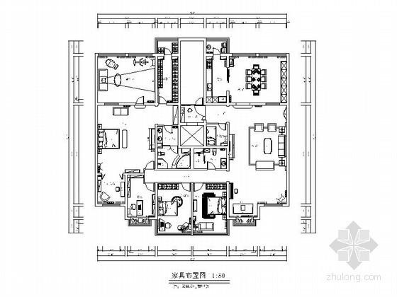 [北京]海淀某奢华简欧大户型全套施工图