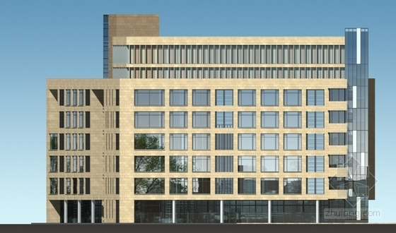 [江苏]景观式企业总部双塔大厦建筑设计方案文本(知名地产含CAD)-景观式企业总部双塔大厦建筑立面图