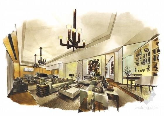 [广东]全球连锁豪华欧式风格商务酒店设计方案客房效果图