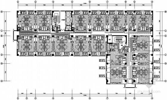 [西安]办公综合楼暖通空调设计施工图(换热站)