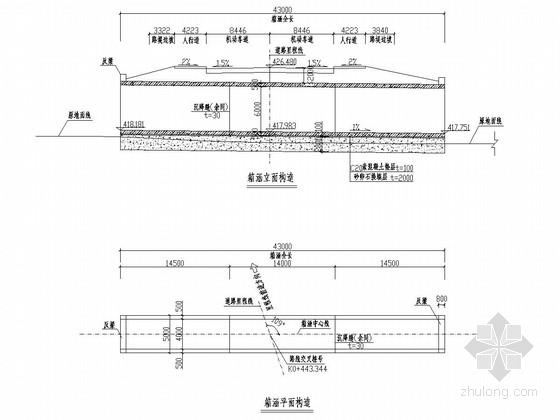 [重庆]城市道路涵洞工程施工图设计23张(箱涵)