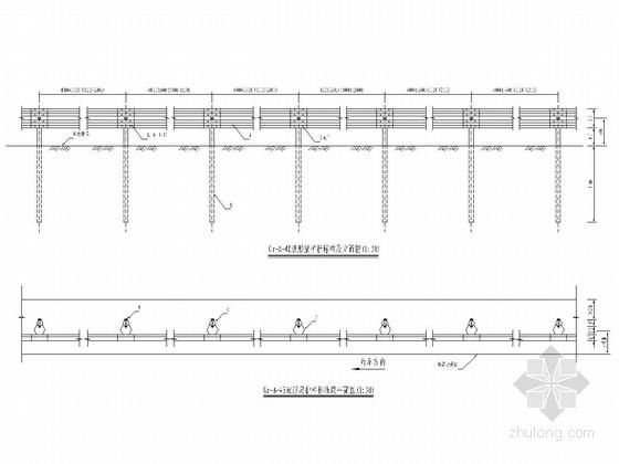 桥梁工程波形梁护栏标准图