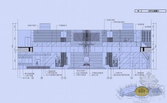 [南京]现代简约风格高速公路服务区室内设计方案图大厅立面图