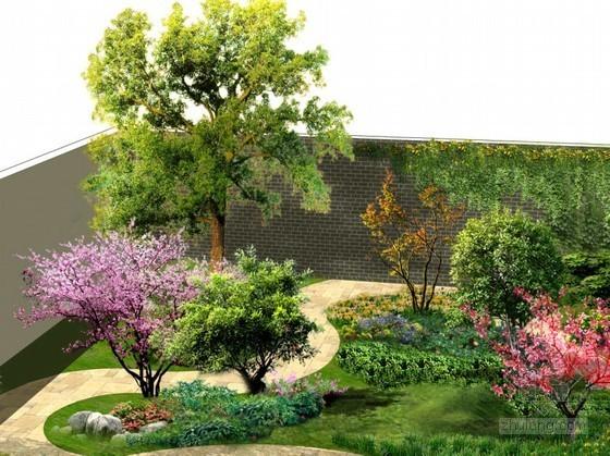 别墅庭院景观设计效果图