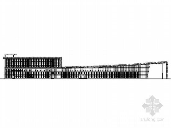 [哈尔滨]某汽车交易场A1交易大厅建筑方案图