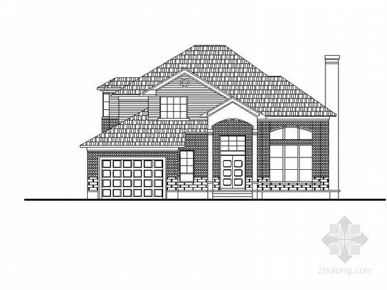 两层独立式别墅带阁楼建筑设计方案图