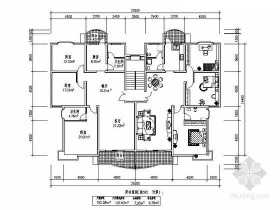 [合集]150-200平方米多层住宅户型图
