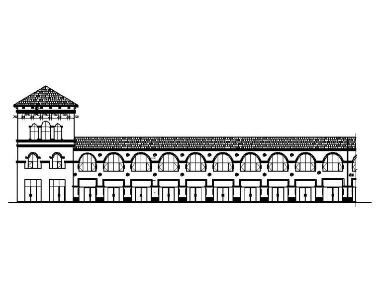[宁夏]三层框架结构简欧风格商业建筑施工图(全套图纸)
