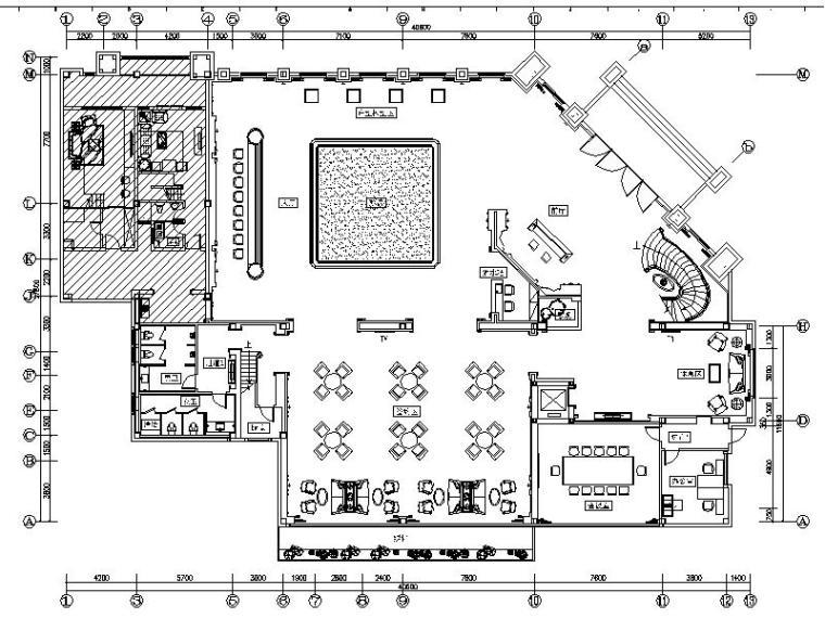 [苏州]欧式风情古典奢华售楼处室内设计施工图(含效果图)
