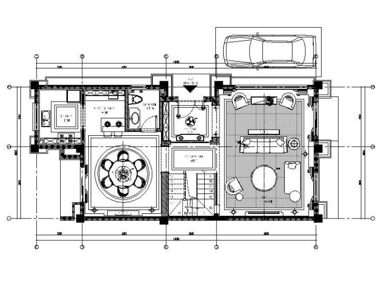 [成都]新古典主义异域风情别墅室内设计施工图(含高清效果图)