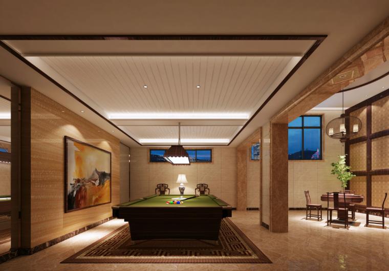 虎溪别墅三层含地下室高档别墅室内设计施工图(含效果图)