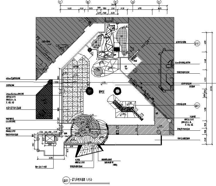 飞天吧酒吧KTV全套室内设计施工图(44张图纸)