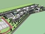 现代风格中学建筑设计SU模型