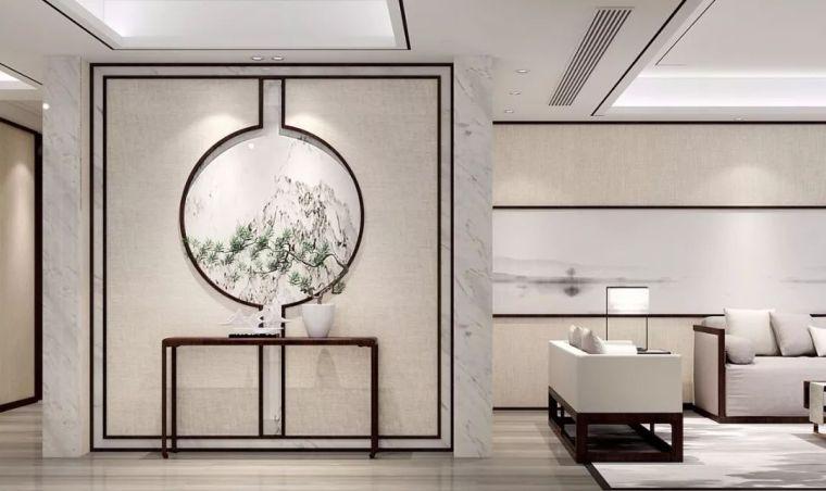 新中式徽派元素山水画为轴线的家装设计_3