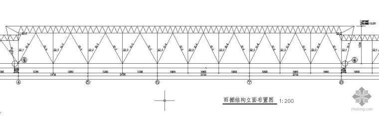 某火车站雨篷结构设计节点构造详图