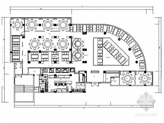 [福建]文艺范混搭风精致餐厅室内施工图(含效果图)