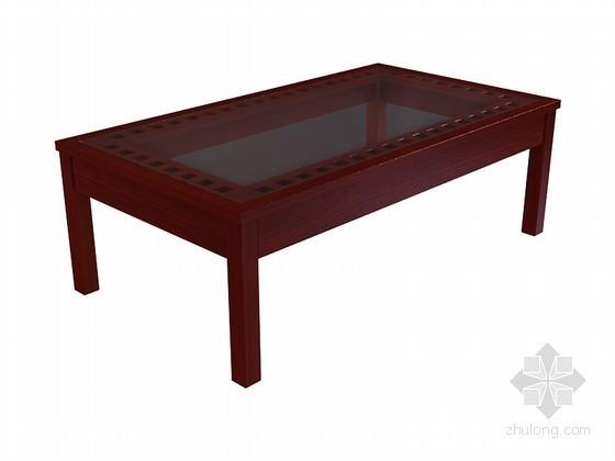 现代中式茶几3D模型下载