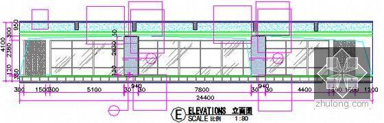 [广东]2015年广场文化活动中心装修工程预算书(附施工图纸)-06三层局部立面图