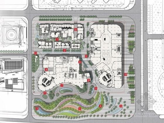 [厦门]新地标线性律动商业休闲广场景观设计方案(知名设计公司)