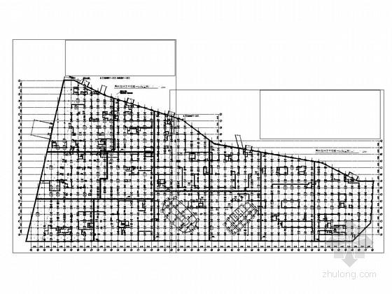 [上海]大型不规则商住楼小区结构施工图
