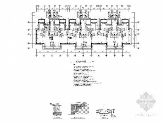 [山东]地上6+1层异形柱框架结构安置房结构施工图