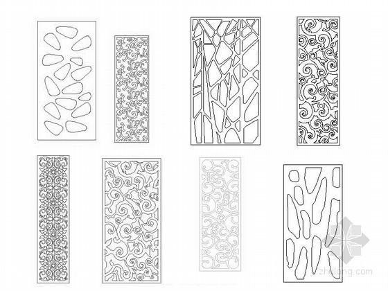 u型楼梯cad图块资料下载-密度板雕花CAD图块下载