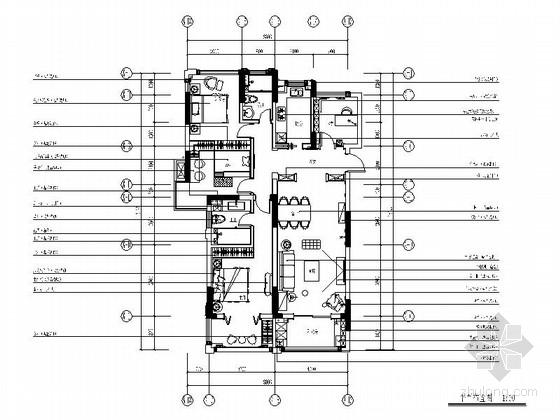 [原创]118平米大气舒适欧式三居室家装施工图