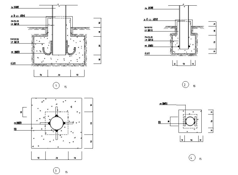 万科城市花园部分景观设计施工图-结构做法