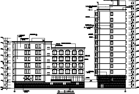 高层框架结构宾馆建筑全套施工图