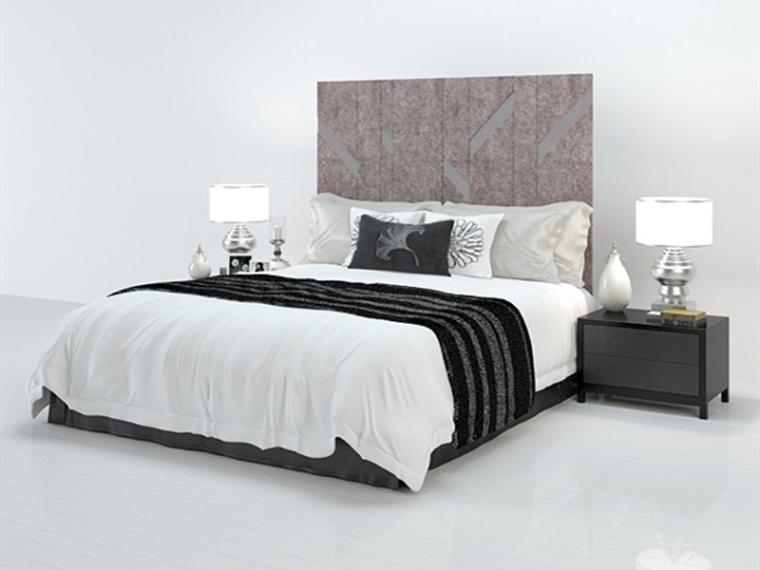 舒适柔软双人床3D模型下载