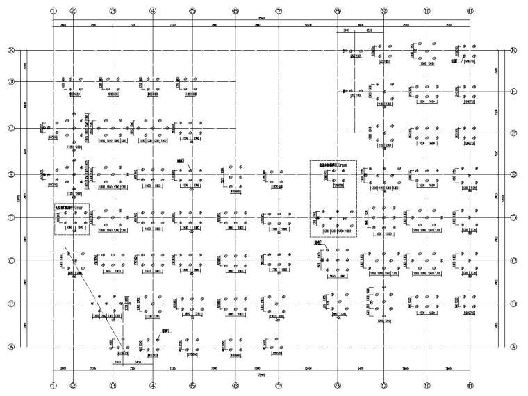 五层框架结构生产厂房建筑结构施工图
