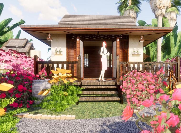 东南亚风格精品海边民宿设计模型(2018年)