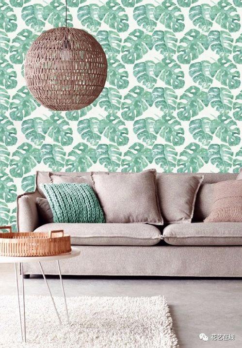 墙纸上的花花世界,你能认出多少植物?